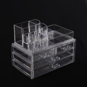 HomCom Acrylic Makeup and Jewellery Organiser Case - Clear