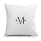 Cathy's Concepts Dot Accented Personalised Throw Pillow, Monogrammed Letter M