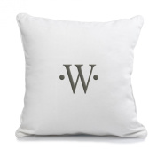 Cathy's Concepts Dot Accented Personalised Throw Pillow, Monogrammed Letter W