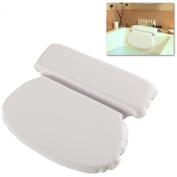 MyGift® Premium Ultra Soft Padded Spa Bath Pillow w/ Dual Cushion Sections & 7 Suction Cups
