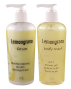 Lemongrass Shower Gel 240ml + Lemongrass Lotion 240ml