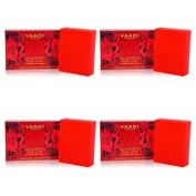 "4 x Vaadi Herbals Enchanting Rose Soap- Anti Pigmentation Therapy 75g x 4 - - ""Expedited International Delivery by USPS / FedEx """