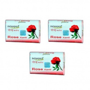 "3 x Baba Ramdev Patanjali Rose Kanti Soap 75g - - ""Expedited International Delivery by USPS / FedEx """