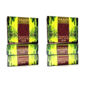 "6 x Vaadi Herbals Anti Acne Becalming Tea Tree Soap 75g - - ""Expedited International Delivery by USPS / FedEx """