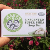 Makes 3 Organic Soap Bar, Unscented Super Shea, 120ml