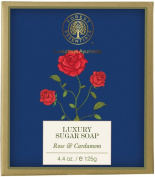 Forest Essentials Luxury Sugar Soap Rose & Cardamom 125 gm By IndianMedicalStore