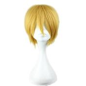 Weeck Anime Kuroko's Basketball Short Golden Halloween Cosplay Wigs