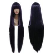 Weeck Anime Long Straight Purple Inu X Boku Ss Shirakiin Cosplay Wigs
