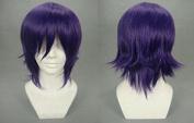 Weeck Anime Short Purple Gintama Hijikata Toushirou Synthetic Cosplay Wigs