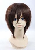 Weeck Anime Attack on Titan Eren Jaeger Short Dark Brown Cosplay Wigs