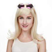"Liz Wig 1950's Peggy Sue Medium Long Flip Bob Heat Friendly Cosplay Party Costume Hair Wig 16"" 40cm"