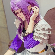 Weeck Anime Long Straight Purple Tokyo Ghouls Hair Girl's Party Cosplay Wigs