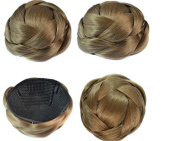 Beauty Wig World Fashion Women 60gr Chestnuts Chignon Synthetic Donut Roller Hairpieces Clip-In Fake Hair Bun