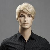 Zl11-22 Men Wig Short Blonde Wig 100%kanekalon Synthetic Material Wig Hair W3560