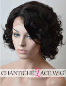 Chantiche Short Bob Cut New Style Lace Front Wigs Body Wave 100% Brazilian Remy Human Hair Glueless Wigs Large Size Cap Invisible Side Parting 150% Density Natural Colour