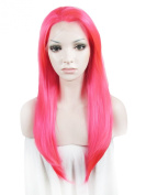 Lace Wig Long Straight Heat Resistant Synthetic Lace Front Wig Rose