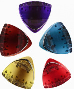 Prettyou 5.1cm Small Size Triangle Style High Quality Plastic Resin Hair Claw Clip for Women, 5 Count