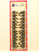 Tara Girls Twinbead Bubble Ponytail Holders -Black - 12 Pcs.