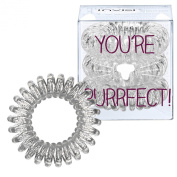 invisibobble Traceless Hair Ring, Sparkling Clear, Purrfect