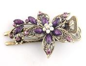 Ecloud ShopUS® bronze Vintage Jewellery Crystal Rhinestone Flowers Hair Clips Hairpins