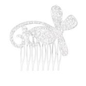 Bridal Bridesmaid Wedding Rhinestone Hair Comb Bow Shape