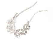 Ecloud ShopUS® Pearl Jewellery fork needle comb type diamond U Hair