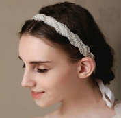 Handmade Diamond Bride Bridal Wedding Accessory Hair Head Band Wear Rhinestone Jewellery Headdress Headband Tiara