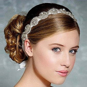 Crystal Diamond Bride Bridal Wedding Accessory Hair Head Band Wear Rhinestone Jewellery Headdress Headband Tiara