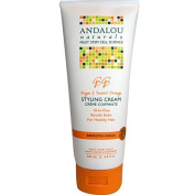 Andalou Naturals Smooth Hold Styling Cream, Argan and Sweet Orange, 200ml by Aroma Naturals