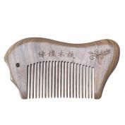 Susenstone® Natural Green Sandalwood Comb Fish Shape Massage Present Comb