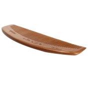 DDLBiz Natural Health Peach Wooden Mahogany Comb Present Moon Comb