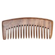 DDLBiz Natural Green Sandalwood Comb Massage Present Comb