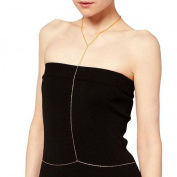 Newest trent Fashion Dress Neck & Waist Necklace Full-Body Chain Belly Chain Golden Body Glitter