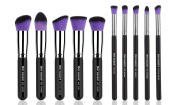 XMY Makeup 10 Pcs Premium Synthetic Makeup Brushes Set Cosmetics Foundation Blending Blush Eyeliner Face Powder Brush Make up Brush Kit for Face/eye/lip