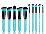 XMY Makeup Professional 10pcs Face Powder Kabuki Contour Cosmetic Foundation Makeup Brushes