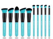 XMY Makeup Professional 10pcs Face Powder Kabuki Contour Cosmetic Foundation Makeup Brushes