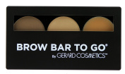 Brow Bar to Go, Brush on Brow - Gerard Cosmetics/Whitening Lightning, Medium to Ebony