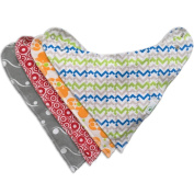 Best Baby Bandana Bibs 4-pack - SALE - Adjustable with Snaps - Made of Natural Cotton and Backed by Absorbent Fleece - Cute Gift Set for Boys and Girls - High Quality - 100% Money Back - YourEcoFamily