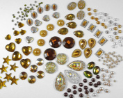 400 Pcs of Assorted Amber Pearl Finish, Irridescent Flat Back Tear Drop Beads Cabochons Assorted Sizes 4mm-18mm