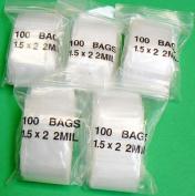 500 SMALL ZIPLOCK BAGS 2MIL CLEAR POLY BAG 2.5cm - 1.3cm X 5.1cm MINI ZIP LOCK BAGGIES (E 7) NOVELTOOLS
