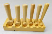 WOOD SWAGE WOODEN FORMING BLOCK U-CHANNEL DAPPING HARDWOOD BLOCK -HAMMER PUNCHES (E 8) NOVELTOOLS