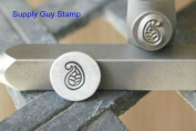 Brand New Supply Guy 7mm Paisley Metal Punch Design Stamp