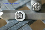 Brand New Supply Guy 8mm House with Heart Metal Punch Design Stamp
