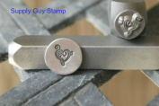 Brand New Supply Guy 7mm Music Note with Heart Metal Punch Design Stamp
