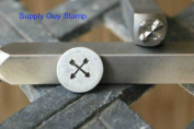 Brand New Supply Guy 5mm Crossing Arrows Metal Punch Design Stamp