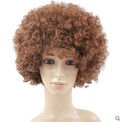 Brown Anime Festival Cosplay Hair for Show Party Cosers Wig Fans Curly Explosion Hair Round Clown
