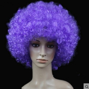 Light Purple Anime Festival Cosplay Hair for Show Party Cosers Wig Fans Curly Explosion Hair Round Clown