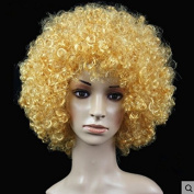 Golden Anime Festival Cosplay Hair for Show Party Cosers Wig Fans Curly Explosion Hair Round Clown