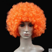 Orange Anime Festival Cosplay Hair for Show Party Cosers Wig Fans Curly Explosion Hair Round Clown