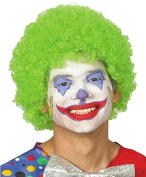 Green Anime Festival Cosplay Hair for Show Party Cosers Wig Fans Curly Explosion Hair Round Clown